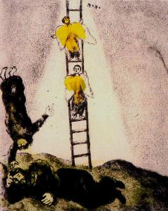 """Jacob's Ladder"" by Marc Chagall"