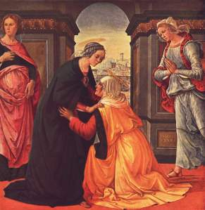 "Domenico Ghirlandaio, ""The Visitation"" (Mary and Elizabeth), 1491, The Louvre, Paris"