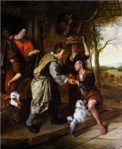 """""""Return of the Prodigal Son"""" by Jan Steen (1670)"""