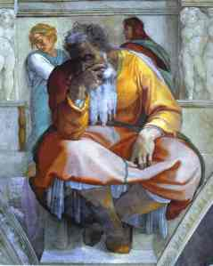 The Prophet Jeremiah by Michelangelo