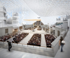 Artist's rendering of the new sanctuary for the Roman Catholic Christ Cathedral (formerly Crystal Cathedral)