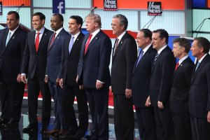 The 10  candidates in the first GOP debate.